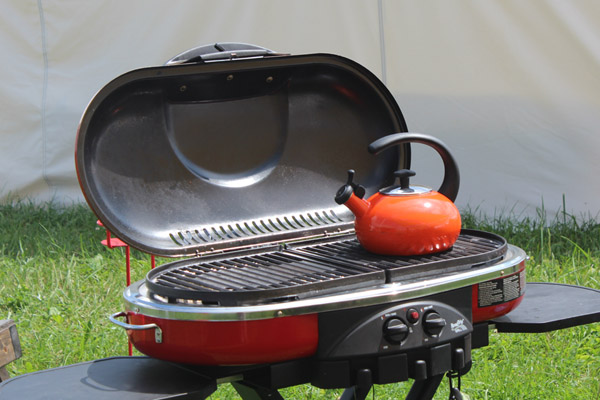 grills in glamping village