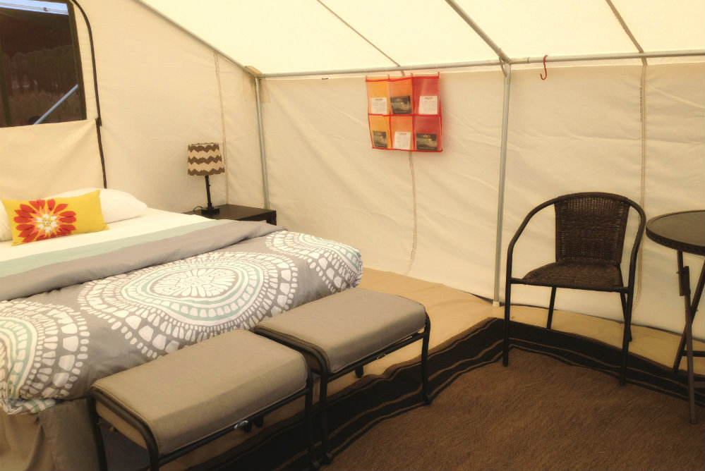 Suite style glamping tent