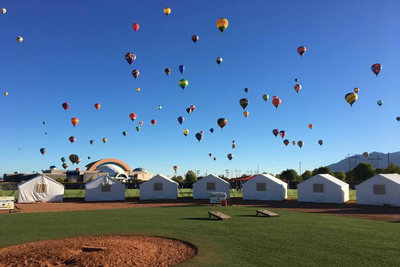 Albuquerque International Balloon Fiesta Glamping Location