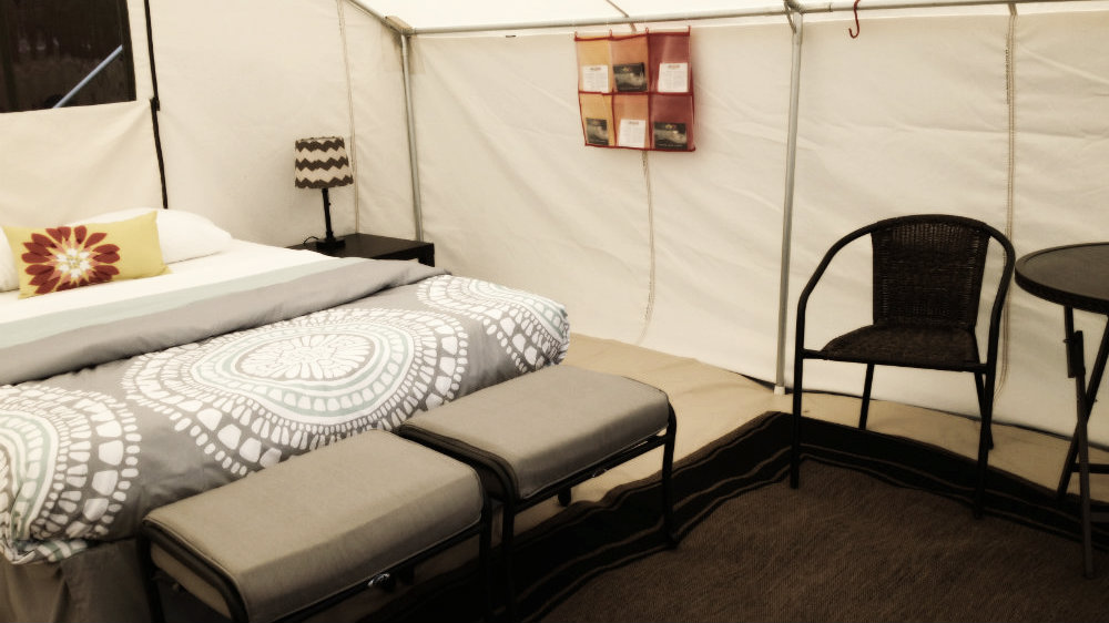 suite glamping tent canvas town events