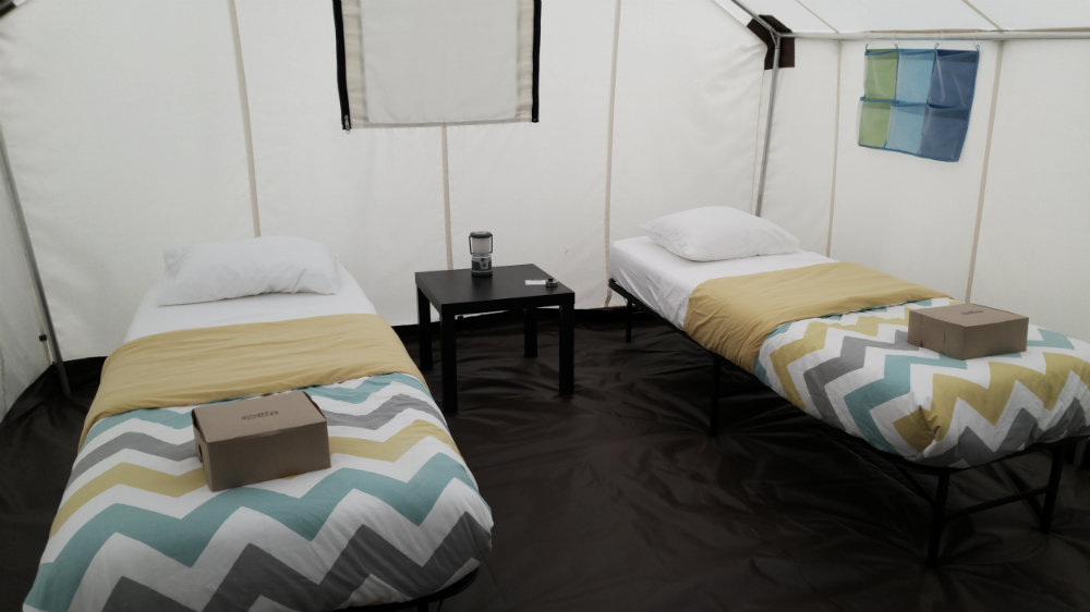 classic glamping tent canvas town events