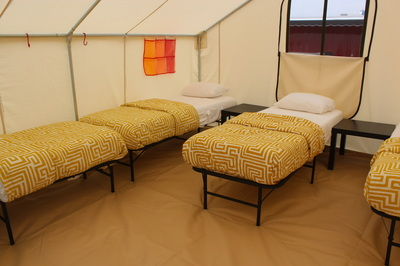Four bed or five bed glamping tent option