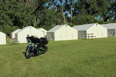 Sturgis glamping with Canvas Town Events
