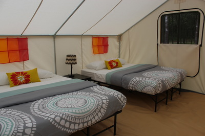 Two queen classic glamping tent