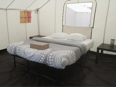 Classic queen glamping tent without electricity