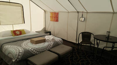 Premium queen suite tent without electricity